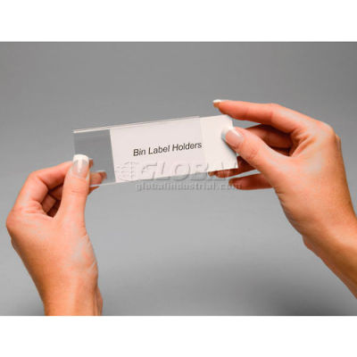 """Aigner Tri-Dex TR-2400 Slide-In Label Holder 2"""" x 4"""" for Stacking Bins, Price per Pack of 25 - Pkg Qty 2"""