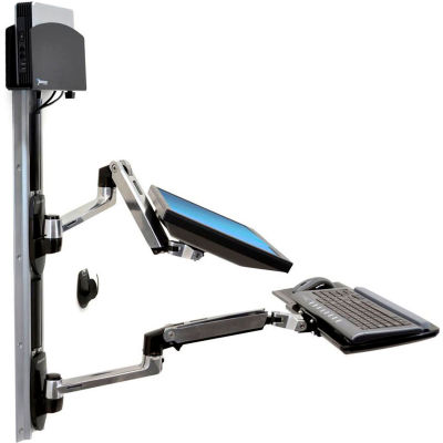 Ergotron® 45-253-026 LX Wall Mount System with Small CPU Holder
