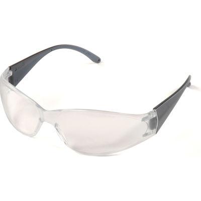ERB™ 15281 Boas Safety Glasses, Smoke Frame, Clear Lens