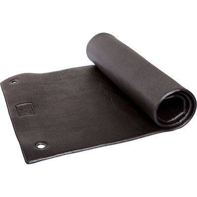 """Power Systems Hanging Club Exercise Mat - 48""""L x 24""""W x 3/8"""" Thick - Jet Black"""