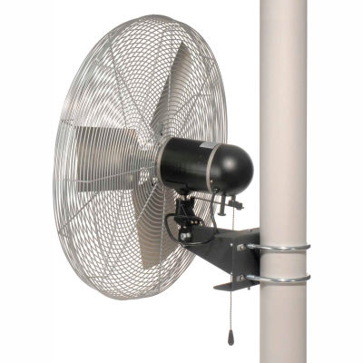 TPI AC30-PM, 30 Inch Pole Mount Fan Non Oscillating 1/4 HP 5400 CFM 1 PH TE Motor