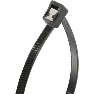 "Gardner Bender 46-311UVBSC 11"" Self-Cutting Cable Ties, Black, 50lb, 50/pk, 3"" Max Dia, Twist Tail"