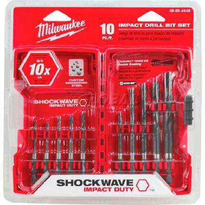 Milwaukee® 48-89-4445 SHOCKWAVE™ 10Pc. Hex Drill Bit Set