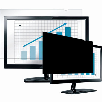 """Fellowes® 4801501 PrivaScreen™ Blackout Privacy Filter for 22"""" Widescreen Monitors - Pkg Qty 4"""