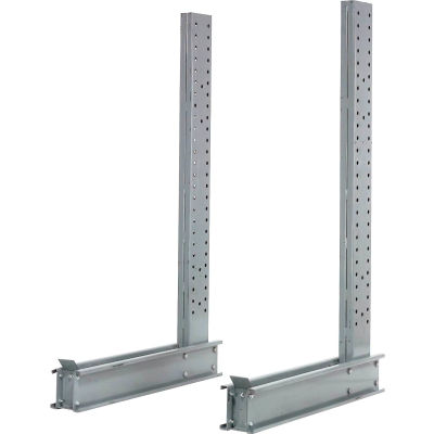 """Cantilever Rack Single Sided Upright (3000-5000 Series), 49"""" D x 10' H, 18200 Lbs Capacity"""