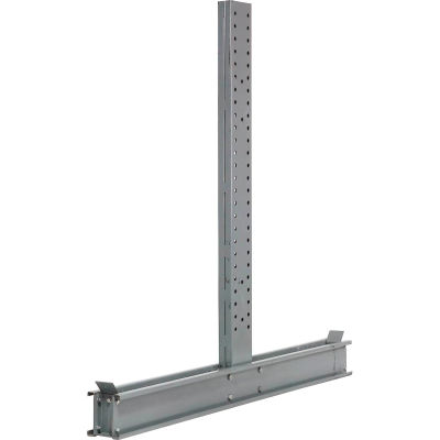 """Global Industrial™ Double Sided Cantilever Upright, 65""""Dx10'H, For 3000-5000 Series"""