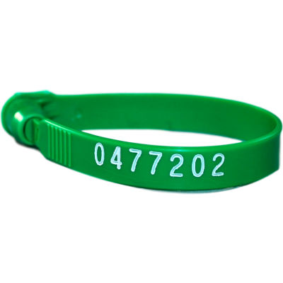 Omnimed® 484115-G Plastic Numbered Truck Seals, Green, 100/Pack