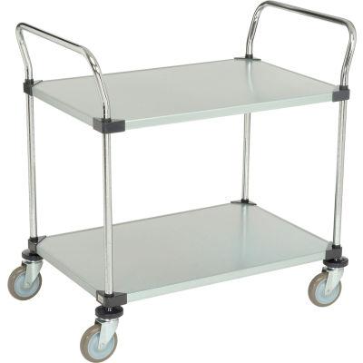 Nexel® Galvanized Steel Utility Cart 2 Shelves 36x24