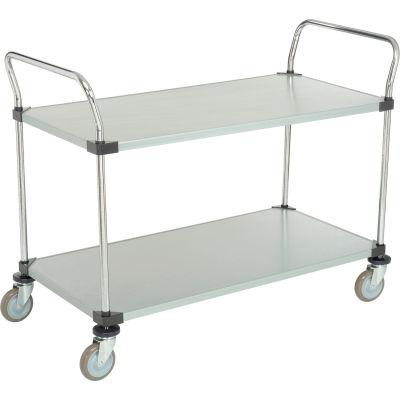 Nexel® Galvanized Steel Utility Cart 2 Shelves 48x24