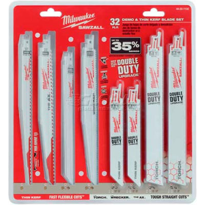 Milwaukee® 49-22-1132 32 Pc. Mega SAWZALL® Blade Kit