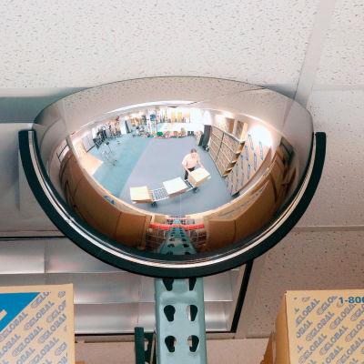 """Half Dome Acrylic Mirror, Indoor, 26"""" Dia., 180° Viewing Angle"""