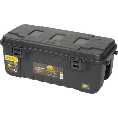 "Plano Molding 191900 110 Quart Mobile Storage Trunk, 37-3/4""L x 18-1/4""W x 14""H  Black"