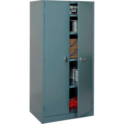 """Global Industrial™ 4-Shelf Storage Cabinet, 36""""W x 24""""D x 78""""H, Gray"""