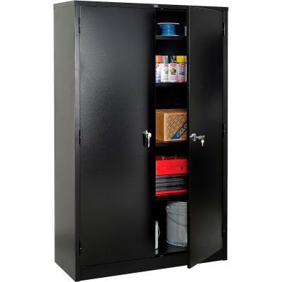 Global Industrial™ Storage Cabinet Easy Assembly 48x18x78 Black