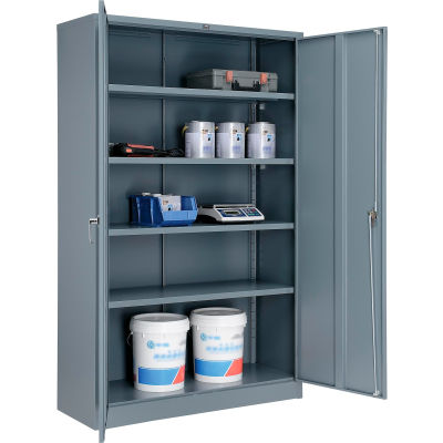 Global Industrial™ Storage Cabinet Easy Assembly 48x18x78 Gray