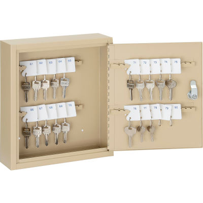 Global Industrial™ Key Cabinet - 60 Keys, Sand