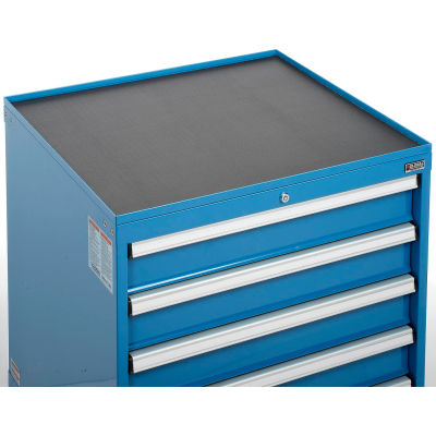 """Global Industrial™ Top Tray w/Vinyl Mat for 30""""Wx27""""D Modular Drawer Cabinet"""