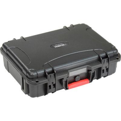"""Global Industrial™ Waterproof Hard Case w/Pinch Tear Foam 14""""L x 10-23/32""""W x 4-11/64""""H, Blk"""
