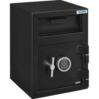 Global Industrial™ B-Rate Depository Safe Front Loading, 1 Door, Digital Lock, 14Wx14Dx20-1/4H