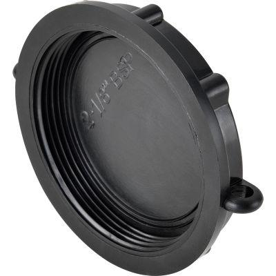 """Global Industrial™ Polypropylene 2-1/8"""" Female BSP Short Schuetz Dust Cap - Pkg Qty 5"""
