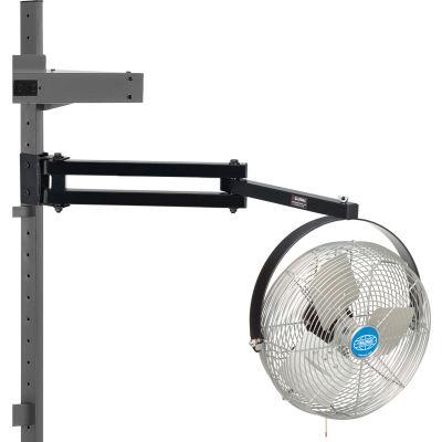 "Global Industrial 12"" Dia. Workbench Fan with 23 Inch Pivot Arm"