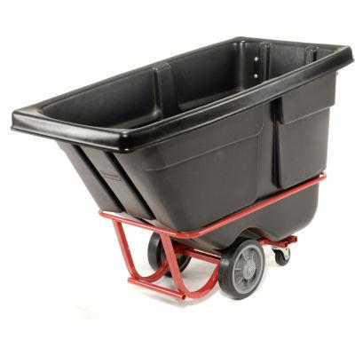 Rubbermaid® Heavy Duty Plastic Tilt Truck, 1/2 Cu. Yd. Cap, 1400 Lbs. Cap, Black