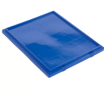 Global Industrial™ Lid LID231 for Stack and Nest Storage Container SNT225, SNT230, Blue - Pkg Qty 3