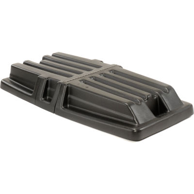 Hinged Black Lid 1307 for 1/2 Cubic Yard Rubbermaid® Tilt Trucks