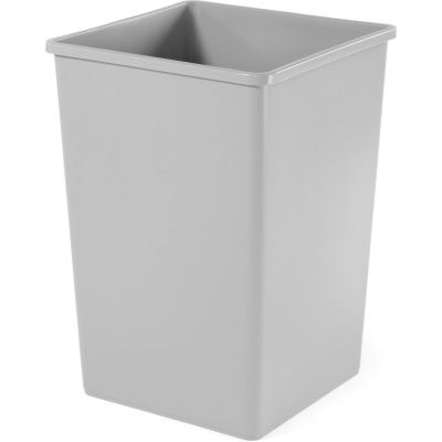 35 Gallon Square Rubbermaid Waste Receptacle - Gray