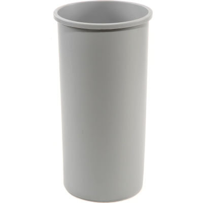 11 Gallon Round Rubbermaid Waste Receptacle - Gray