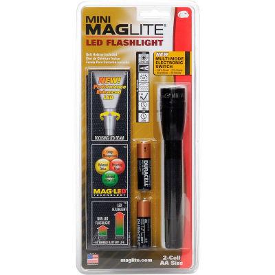 Maglite® SP2201H 2 Cell AA Mini LED Flashlight Black