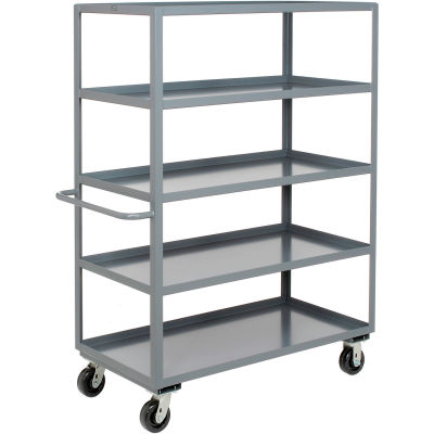 Heavy Duty Shelf Truck 5 Shelves 48x24 3000 Lb. Capacity