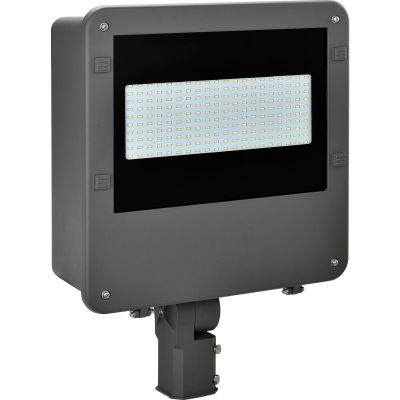 Global Industrial™ LED Shoe Box Fixture, 100W, 11000 Lumens, 5000K, Slip-fitter Mount