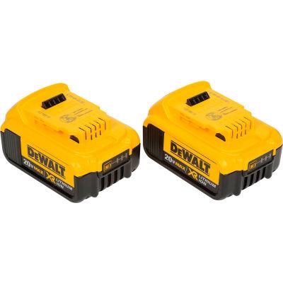 DeWALT® DCB204-2 20V Li-Ion 20V MAX Battery 4Ah Extended Capacity 2Pk