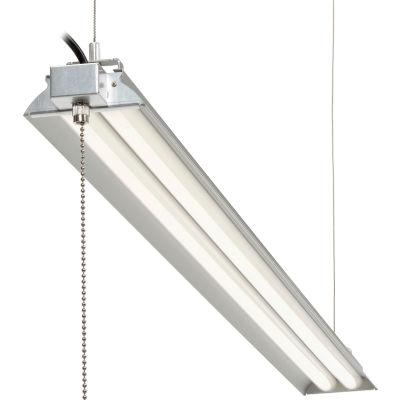 "Global Industrial™ 60"" LED Aluminum Shop Light, 35W, 4000K, 4375 Lumens, 48"" Adj Height, 6'Cord"