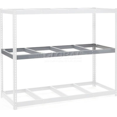 "Additional Level For Wide Span Rack 96""W x 36""D No Deck 800 Lb Capacity - Gray"