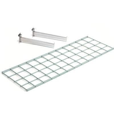 Global Industrial™ Wire Shelf 36 X 12 With 2 Brackets - Pkg Qty 3