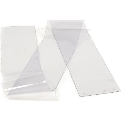"Replacement 8"" x 7' Clear Strip for Pedestrian Strip Curtain Doors"