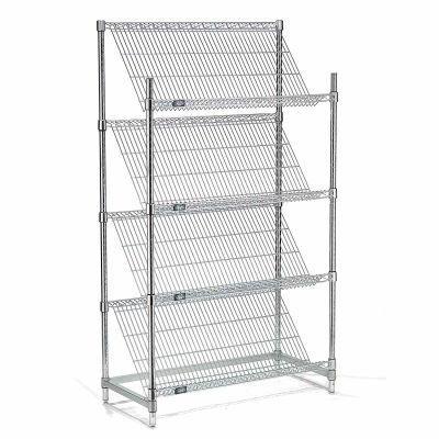 "Slant Wire Shelving - 4 Shelves - 36""W x 18""D x 63""H"