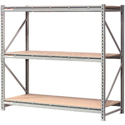 """Global Industrial™ Extra High Capacity Bulk Rack With Wood Decking 60""""W x 18""""D x 72""""H Starter"""