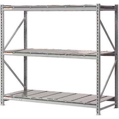 """Global Industrial™ Extra High Capacity Bulk Rack With Steel Decking 72""""W x 24""""D x 120""""H Starter"""