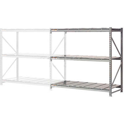"Global Industrial™ Extra High Capacity Bulk Rack With Steel Decking 60""W x 24""D x 120""H Add-On"