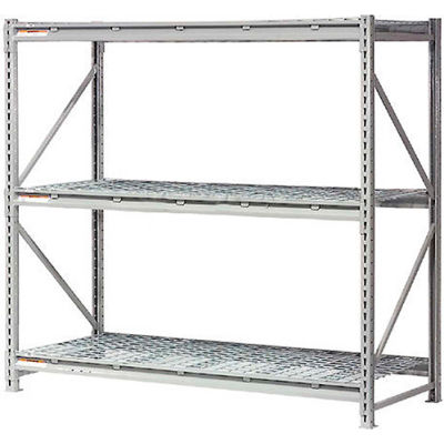 "Global Industrial™ Extra High Capacity Bulk Rack With Wire Decking 96""W x 48""D x 120""H Starter"