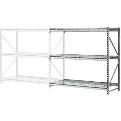 """Global Industrial™ Extra High Capacity Bulk Rack With Wire Decking 96""""W x 24""""D x 96""""H Add-On"""