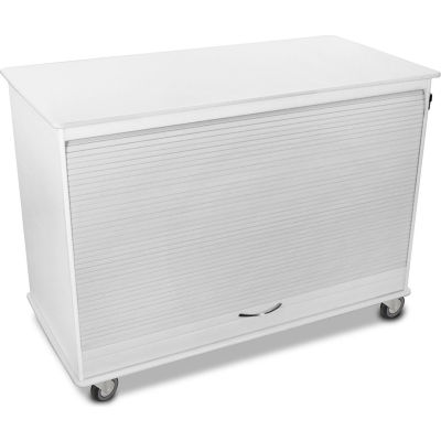 "TrippNT™ 50592 White Medium Polyethylene Mobile Lab Cabinet, 48""W x 24""D x 35""H"