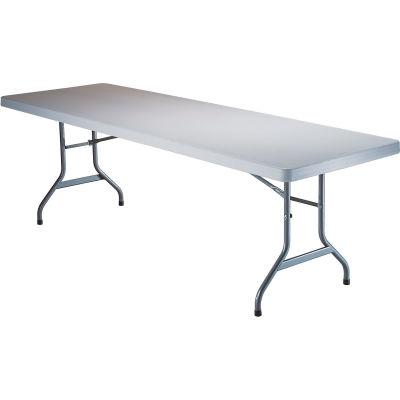 """Lifetime® Portable Plastic Folding Table, 30"""" x 96"""", White"""