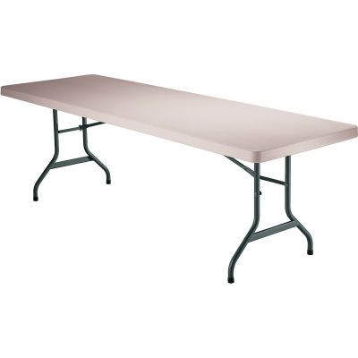 "Lifetime® Portable Plastic Folding Table, 30"" x 96"", Almond"