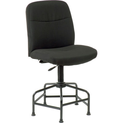 Interion® Big and Tall Stool - Fabric - Black