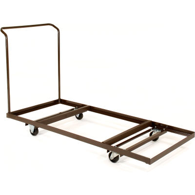 """Interion® Table Cart For Rectangular Folding Tables Holds 12 - up 72"""""""