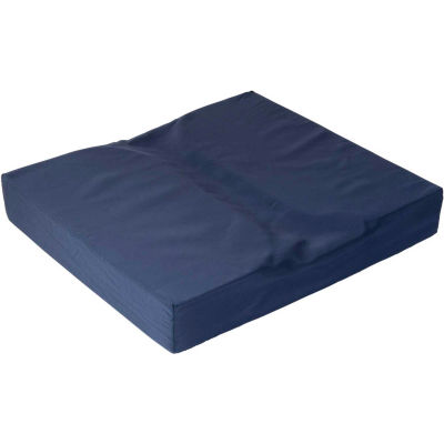 "DMI® Dual Cut Foam Coccyx Seat Cushion, 16"" x 18"" x 3"", Navy"